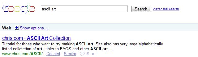 google-ascii-art