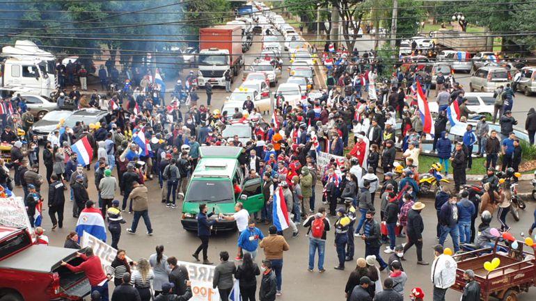 Manifestação em Ciudad del Elste (Foto Tereza Fretes)