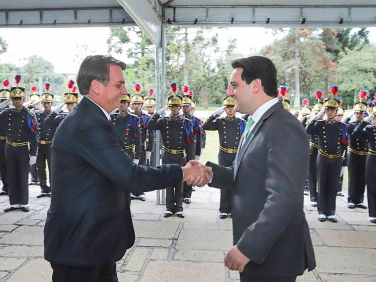 Bolsonaro y Ratinho jr (foto AEN)