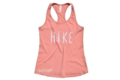 HIKE tank top in color sunset