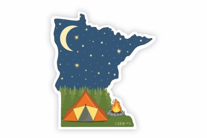 Minnesota camping sticker