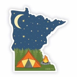 Minnesota camping sticker