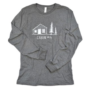 Cabin No. 4 logo long sleeve t-shirt - deep heather color
