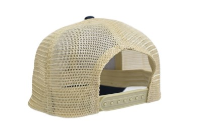 snap back closure mesh back trucker hat with Cabin No. 4 logo