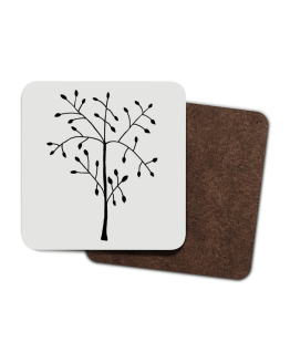 Coaster with tree design
