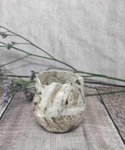 Handmade ceramic porcelain vessel
