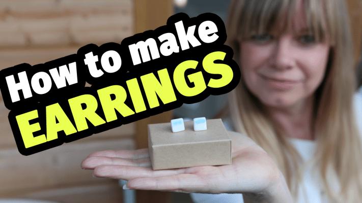 How to make ceramic earrings