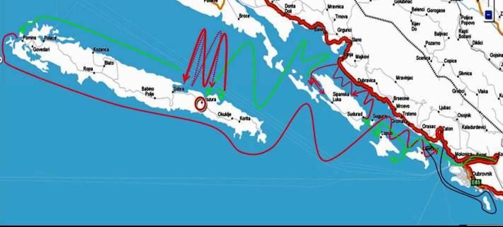 Croatia sailing itinerary; rounding Mljet from Dubrovnik