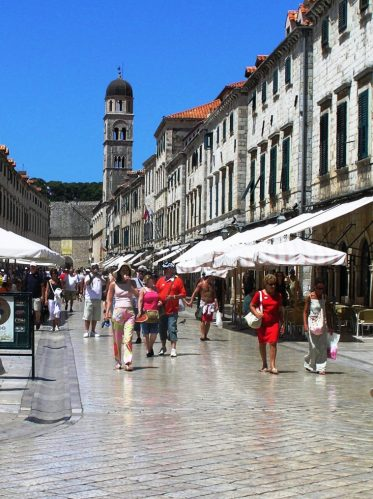 Marble Street in Dubrovnik