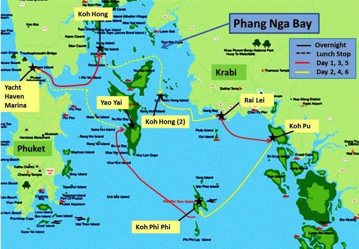 Phuket Itinerary, Sailing Thailand