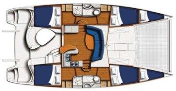 Leopard 4000 cabin layout
