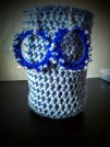 Cobalt blue with clear beads