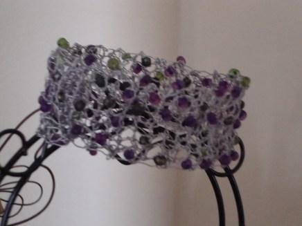 Purple/green cuff bracelet