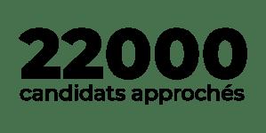 En 2020, 22000 candidats approchés
