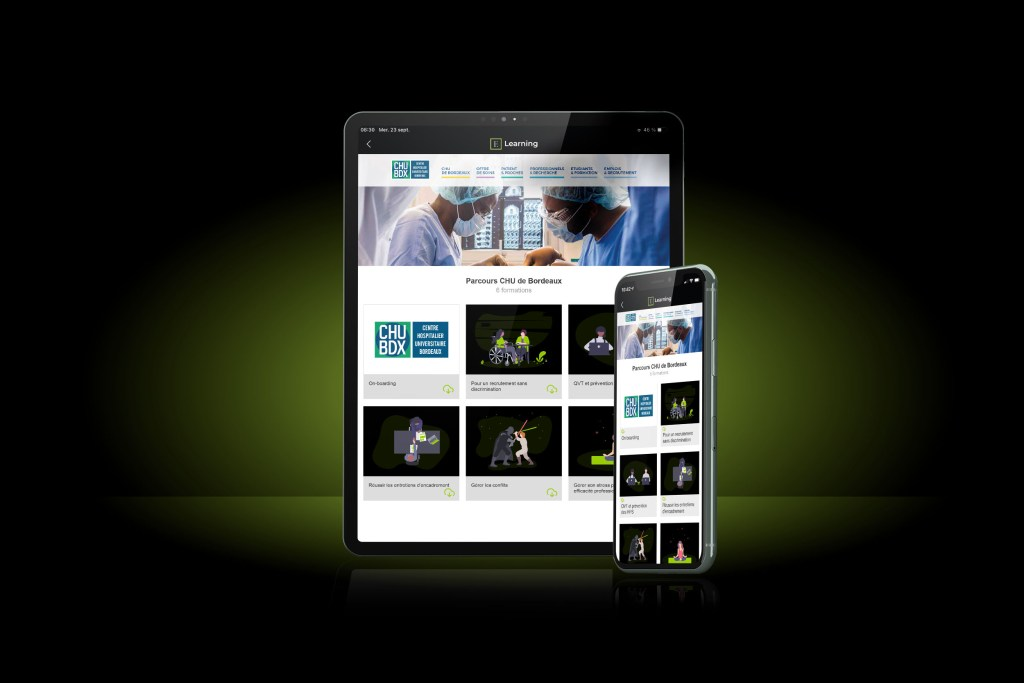 Notre application formation E-Learning