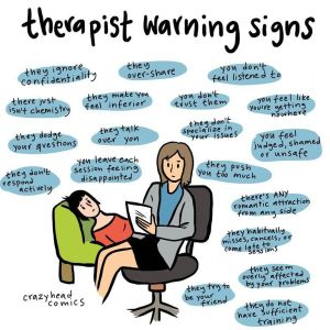 therapist warning sign