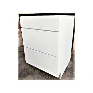 Three Drawer Cabinet Unit Drawer in White
