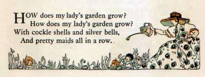 How does my lady's garden grow?