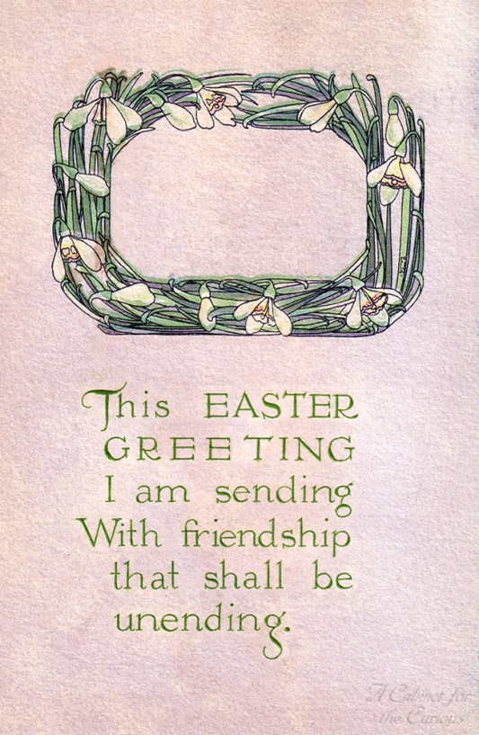 Easter Greeting Postcard