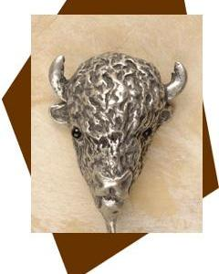 Anne at Home Buffalo  Head Cabinet Knob