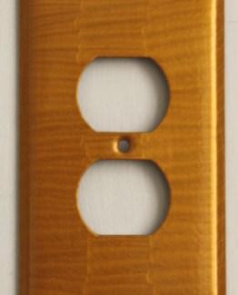 Susan Goldstick Decorative Outlets Glam Outlet Cover Deep Gold