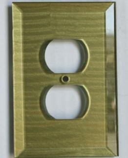 Susan Goldstick Decorative Outlets Glass Outlet Cover Jade