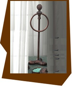 Anne At Home  Oceanus Vanity Top Towel Ring