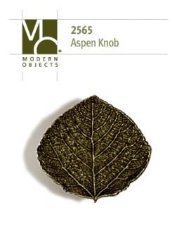Modern Objects Designer Hardware Aspen Leaf Cabinet Knob