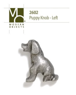 Modern Objects Designer Hardware Puppy Cabinet Knob Facing Left