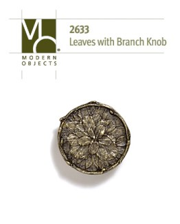 Modern Objects Decorative Hardware Tree Leaves Branch Cabinet Knob
