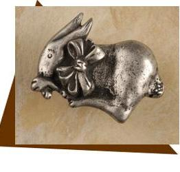 Anne At Home Bunny W/Bow Cabinet Knob - Left