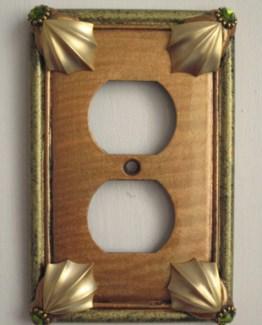 Susan Goldstick Decorative Outlets Cleo Outlet Cover -  Amber/Jade