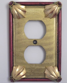 Susan Goldstick Decorative Outlets Cleo Outlet Cover Jade