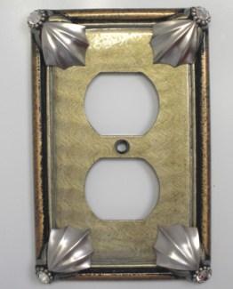 Susan Goldstick Decorative Single Duplex Cleo Outlet Cover Deep Opal
