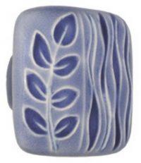 Acorn Manufacturing Large Square Blue / Blue Sea Grass Cabinet Knob