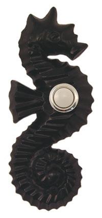 Waterwood Hardware Decorative Seahorse Doorbell- Black
