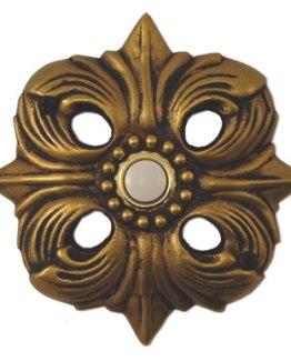 Waterwood Hardware Decorative Avalon Doorbell- Antique Brass