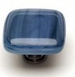 Sietto Glass Cabinet Knob Cirrus  Marine Blue