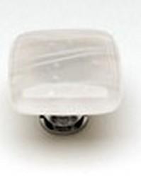 Sietto Glass Cabinet  Knobs Cirrus Vanilla & White Mardi Gras