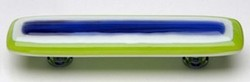 Sietto Glass Cabinet Pulls Luster Plum/Spring Green