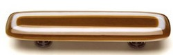 Sietto Glass Cabinet  Pulls Luster Umber Brown