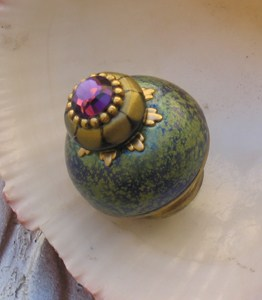 Susan Goldstick Turquoise Nu Ivy Decorative Cabinet Knob