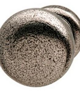 Hafele Cabinet Hardware, Americana Cabinet Knob, zinc, brushed nickel, 30 x 23mm