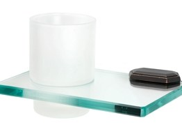 Alno Decorative Hardware Creations Glass Tumbler Holder Barcelona