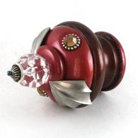 Susan Goldstick FINIAL BIRDIE RUBY AGATE Swarovski Crystal