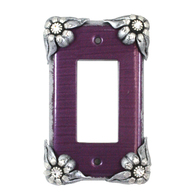 Susan Goldstick Bloomer Violet Single Decora Switch plate