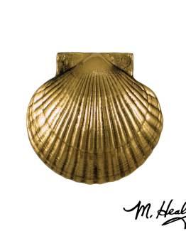 Michael Healy Designs Sea Scallop Door Knocker -Brass- Premium
