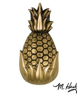 Michael Healy Hospitality Pineapple Door Knocker - Brass- Premium