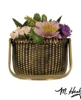 Michael Healy Designs Nantucket Basket Door Knocker - Brass-Premium