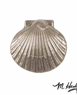 Michael Healy Designs Bay Scallop Doorbell Ringer Nickel Silver
